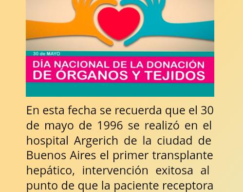 30/5 Día Nacional de la Donación de Orgános y Tejidos