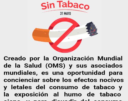 30/5 Día Mundial sin Tabaco